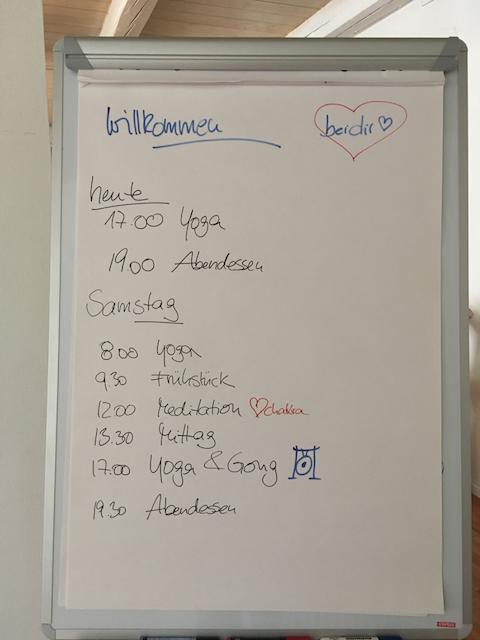 Unser Programm für die ersten 2 Tage